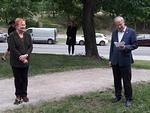 Presidentti Tarja Halonen ja APJ Jorma Nisula