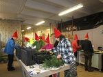 Kranssitalkoot joulupolun koristamiseksi