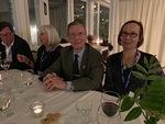 Markku Kuronen (vas.), Lena Nisula, klubimme perustajajäsen Erkki Kuronen ja Marjo Ollikainen Stansvikissa.