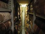 Kansallisarkiston k�tk�iss� on tilaa erilaisille asiakirjoille yhteens� noin 128 hyllykilometri�.