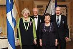 Nämä henkilöt ovat olleet osana koko klubimme 50-vuotista historiaa. Vas. Ritva ja Kauko Palmu, Vieno ja Veikko Venho.