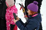 Muistoksi kuvat ensimmäisestä hiihtotapahtumasta.