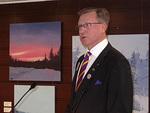 Lions-liiton puheenjohtaja Tuomo Holopainen onnitteli uusia jäseniä. Hän kertoi, että tämänvuotinen jäsenkampanja on tuonut uusia jäseniä.