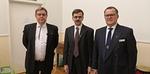 Klubikummi Jarmo, uusi jäsen Ari ja klubin presidentti Jukka-Pekka