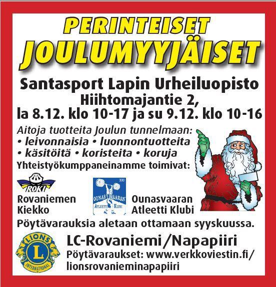 joulumyyjäiset 2018 PERINTEISET JOULUMYYJÄISET 8. 9.12.2018   nyt uusi varausohjelma  joulumyyjäiset 2018