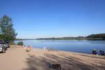 Äyräpään kirkolla on nykyisin venäläisten suosima telttailu-, kalastus-, ja retkeilypaikka. Kuva Vuoksen rannasta Vuosalmen suuntaan.