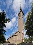 Rauhan kuningattaren Neitsyt Marian kirkko, joka oli filharmonikkojen konserttisalina 1963-88. Torni purettiin 1962, ja rakennettiin uudelleen 1989. (Klaipeda, Liettua, 1960)
