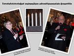 Tervetulotoivotuksen esittivät LC Floorankentän presidentti Pertti Huovinen (vas.) ja Helsingin Laulun puheenjohtaja Matti Hinttala.