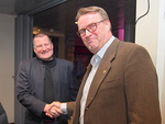 Presidentti Kari Kammonen kiitti rehtori Teemu Kokkoa erinomaisesta klubialustuksesta.