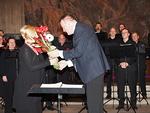 Presidentti Kari Kammonen kiitti kuoroa ja kuoron johtajaa.