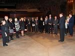 Konsertin päätteeksi presidentti Kari Kammonen järjesti Lionien kesken pienimuotoisen mutta juhlavan seremonian.