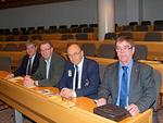 Piirikokoukseen osallistuivat Simo Pääkkönen, Kari Kammonen, Antti Tuomikoski ja Kyösti Pyysalo. Kuva Thorleif Johansson.