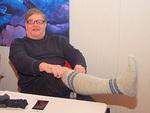 Simo Pääkkönen esitteli klubin oman Sulka-tuotteen, villasukat.  Seuraavaksi Simon pitää saada ladyt innostumaan sukkien kutomisesta.  Floorankentän jäsenten tehtävä on sitten myydä ne.