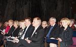 Konsertista nautti myös Lions-organisaation ylintä johtoa.  Presidenttiparin vieressä ja takana tuleva ja entinen kansainvälinen johtaja sekä entinen ja tuleva piirikuvernööri.