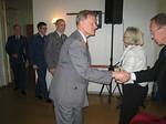 Kadettikvartetti toivotettiin tervetulleeksi juhlaamme esiintymään johtajanaan everstiluutnantti Matti Orlamo