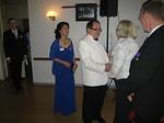 Pres Raili Tanskanen ja pastpres Veikko Huuskonen toivottivat DG Esko Viinikaisen ja lady Tiinan tervetulleeksi juhlaan