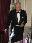 Perustajajäsen lion Erkki Pälikkö piti puheen ja muisteli klubin 50-vuotista taivalta