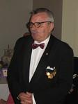 30 vuotta jäsenenä ollut lion Mauno Vierikko piti puheen ja kertoi hauskoja muistoja vuosien varrelta