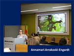 Asiamies Annamari Arrakoski-Engardt piti mielenkiintoisen alustuksen Itämeren tilanteesta.