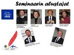 Seminaarin alustajat.  Kuvat Tuomo Holopainen.