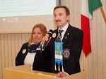 N-piirin entinen kuvernööri Jukka Kärkkäinen esittäytyi liiton varapuheenjohtajaehdokkaana.  Tukena puoliso, lion Lea Kärkkäinen.