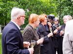 Kari Ahonen oli kutsunut presidentti Tarja Halosen tähän perinnepuun lahjoitustilaisuuteen.