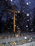 Aamulla oli lumisade tuloillaan; ei tullut.