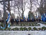 Suomen lippu oli seremonian keskiössä.
