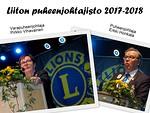 Liiton puheenjohtajisto kaudella 2017-2018.