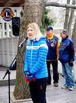 Tilaisuuden avasi Vantaan kaupunginhallituksen puheenjohtaja, kansanedustaja Sari Multala.  Urheilutaustainen Multala (kilpapurjehduksen kolminkertainen maailmanmestari) korosti perheiden yhteisten liikuntahetkien tärkeyttä.  Hän piti Jokileijonatapahtumaa yhtenä tällaisena perheitä yhdistävänä liikuntatapahtumana. Kuvassa taustalla piirihallituksen jäsen Eero Salminen (oik.) ja Risto Purhonen.