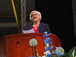 Valtiovallan tervehdyksen esitti ministeri Anu Vehviläinen.