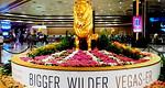 Las Vegasissa kuvernöörielektit otti vastaan lähes oikea mutta vain suurempi ja villimpi ja väriltään kultaisempi leijona.