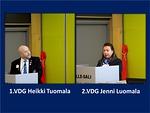 1.VDG Heikki Tuomala kertoi mm. GAT:sta ja Lions Forward-hankkeesta ja 2.VDG Jenni Luomala innosti panostamaan someen.
