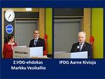 2.VDG-ehdokas Markku Vesikallio avasi ajatuksiaan ja VCC-ehdokas Aarne Kivioja totesi: - Huipulla tuulee!